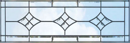CH76H leaded glass bevel transom window custom glass design