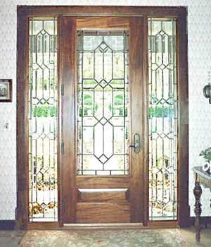 Charmant Door With Leaded Glass Window