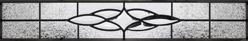 Custom leaded glass transom window