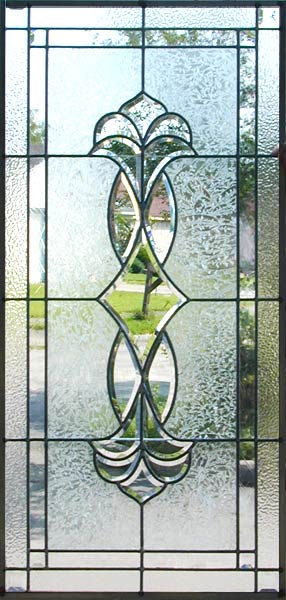 JS16P Leaded Glass Beveled Window Custom Glass Design