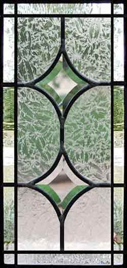 Custom leaded glass beveled sidelight window