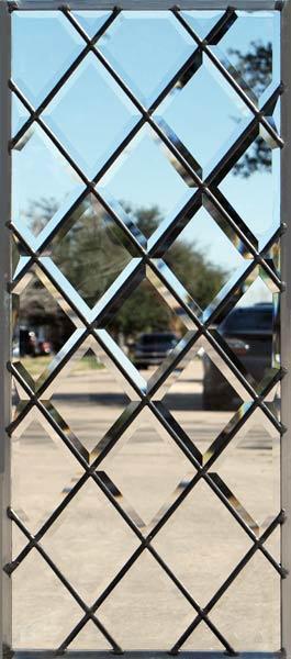 Bevdia3 Leaded Glass Beveled Diamonds Window Custom Glass