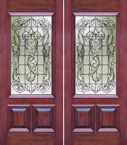 ab03 leaded glass door window. \