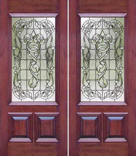 ab03 leaded glass door window. \
