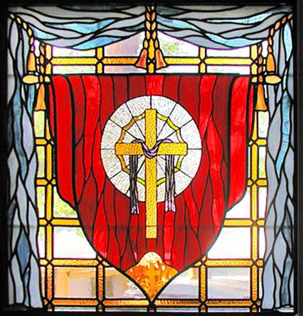 Custom Stained And Leaded Glass Lord Of Cross Window