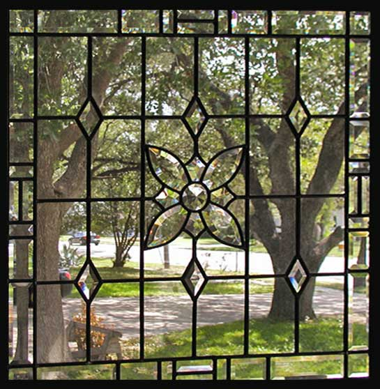 Bryantp Leaded Beveled Glass Window Custom Glass Design