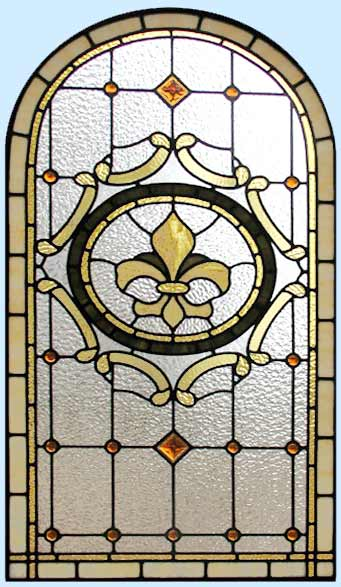 Falconhead Bathroom Victorian Style Stained Leaded Glass