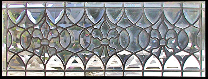 Custom Leaded Gl All Beveled Transom Window