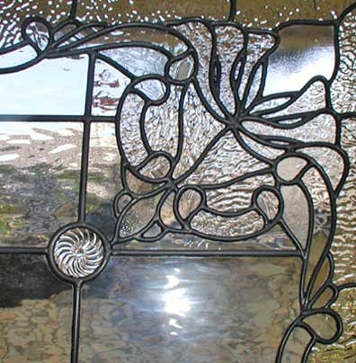 Gilbertp Victorian Style Stained Glass Standing Screen All