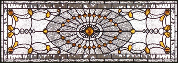 Haddingtonst Victorian Style Leaded Stained Glass Window