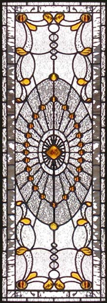HADDINGTONSV large custom Victorian style sidelight stained and leaded glass window