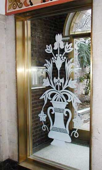 Custom Sandblasting Etching Window Custom Glass Design