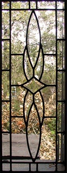 Hg343p4v Leaded Glass Vertical Bevel Sidelight Window
