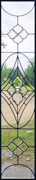 Clear leaded glass sidelight window with bevels