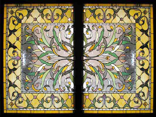 Visconte Victorian Style Stained Glass Custom Glass Design