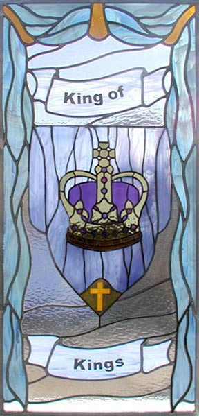 King of Kings custom stained glass and leaded glass spiritual window