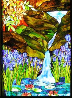Flowers Butterflies Dragonflies Sailboats Stained Glass