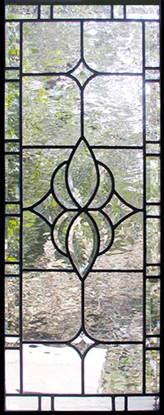 Lundeensd custom leaded bevel sidelight glass windows for Decorative stained glass windows