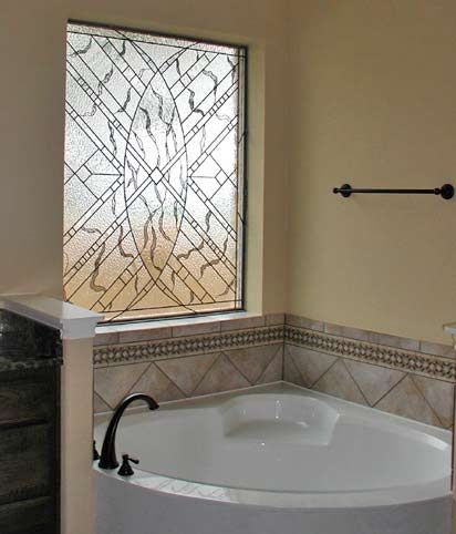 MAGRUDERBATH LEADED GLASS BATHROOM PRIVACY WINDOW CREATED BY JACK. Bathroom Privacy Window  Leaded Bathroom Windows Bevels And