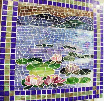 Mosaic Designs Ideas Waterlilies Mosaic