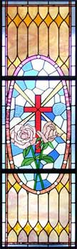 Custom stained glass windows for a sanctuary in central Texas