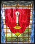 Light of the World custom religious stained glass window