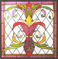 Custom donated stained and leaded glass window