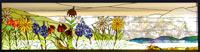 Custom stained glass Texas wildflowers by Jack McCoy