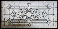 Custom leaded glass horshoebay transom window