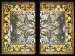 HRHC stained and leaded glass Victorian style window