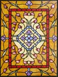 large Langston custom Victorian style leaded glass window