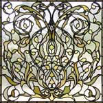 large Spokane1 custom Victorian style leaded glass window