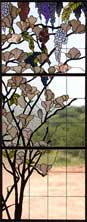 Custom wisteria arch stained glass window by Jack McCoy
