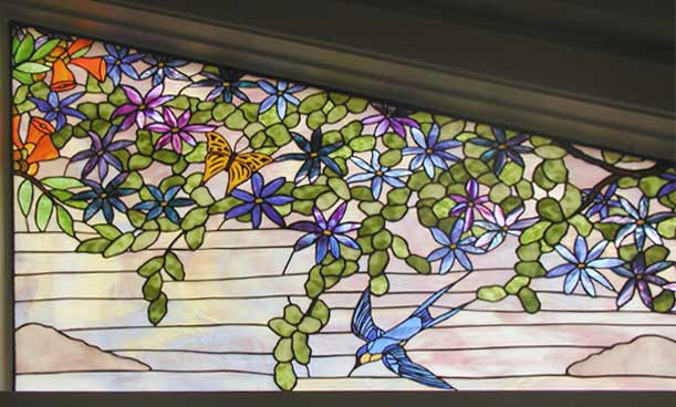 Birds Leaded Stained Glass Windows Custom Glass Design