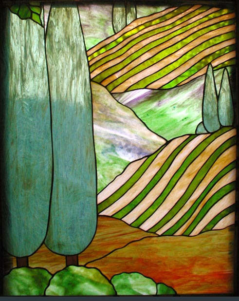 Feikupper Stained Glass Grapes Window Custom Glass Design