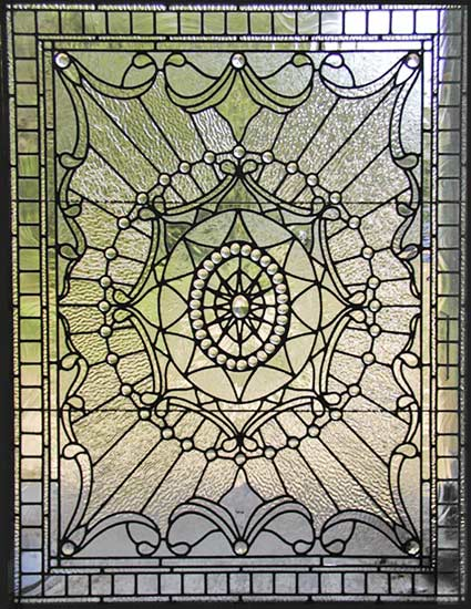 Upstairsbedp Victorian Style Leaded Glass Window Custom